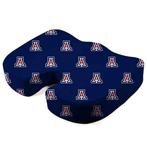 Pegasus Sports NCAA Arizona Wildcats Unisex Ncaancaa Memory Foam Seat Cushion, Cardinal, 17.5