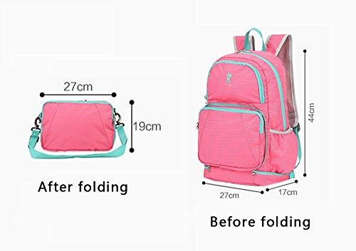 Bolso de la momia del hombro, capacidad multi-funcional grande a ser producido paquete, bolso plegable, fuentes del bebé empaqueta ( Color : Sandía roja ) Gris