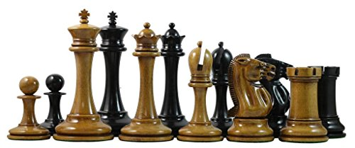 Staunton Castle, B & Company Distressed Antique Look Wooden 3.5'' Chess Pieces - Best Chess Board Game - Optimal Weighted Chess Pieces, for Kids & Adults