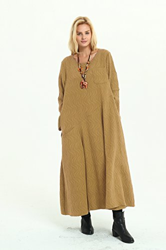amp;cotton Jacquard Anysize Retro Size Clothing Plus Linen Ripple Ginger Spring Winter F6B Fall nBwHZIqw