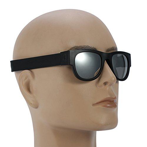 Gafas Conducción Aire Gafas de Sol Unisex Plegables para 4 Sol de Libre Plegables 2 Gafas Plata al Ciclismo Tipos qnIa6tg8