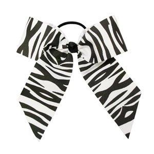 In Stock Large Zebra Print Grosgrain Ribbon Bow