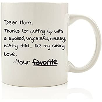 dear mom from your favorite funny coffee mug 11 oz top christmas gifts for mom unique gift for her women perfect novelty birthday present idea for