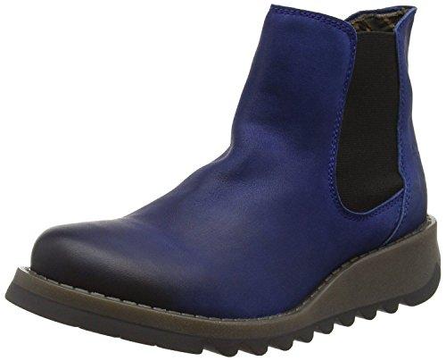 Fly Tobillo Mujeres london Azul Del Cargadores Cuero Zapatos Salv wOgwcqRv