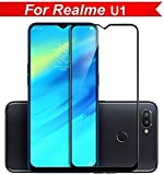 KOKO 6D Tempered Glass with Curved Edges and 9H Hardness - Full Glue Edge-Edge Screen Protection for Oppo Realme U1 (Black) (Limited Period Launch Offer)