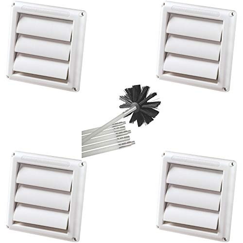 (Deflecto Hs4w/18 Supurr-vent Replacement Vent Hood (White) + Free Cleaning)