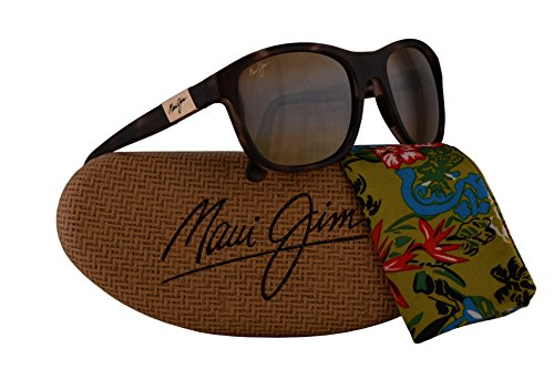 Maui Jim Wakea Sunglasses Matte Tortoise Rubber w/Polarized Bronze Lens - Tortoise Jim Stingray Maui