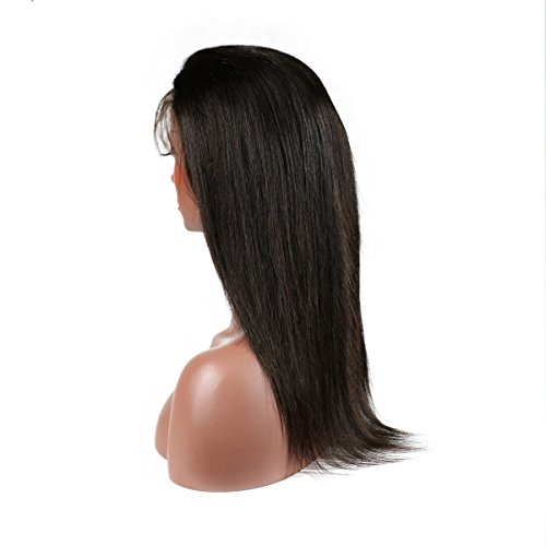 KeLang Brazilian Virgin Human Hair Lace Front Wigs for Black Women Long Straight Pre Plucked Glueless Human Hair Wigs With Baby Hair And Bleached knots 130% Density Natural Black color (Lace Front 16) by KeLang (Image #9)