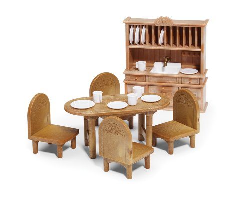 Calico Critters Country Dining Room Furniture Set, Baby & Kids Zone