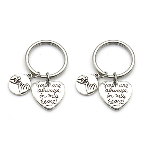 Boyfriend Girlfriend His Hers Necklaces or Keychains Pinky Promise Pinky Swear Always in My Heart (keychain)