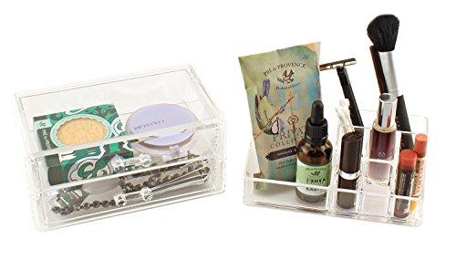 VANITY Premium Acrylic Makeup Jewelry  Storage Organizer Set