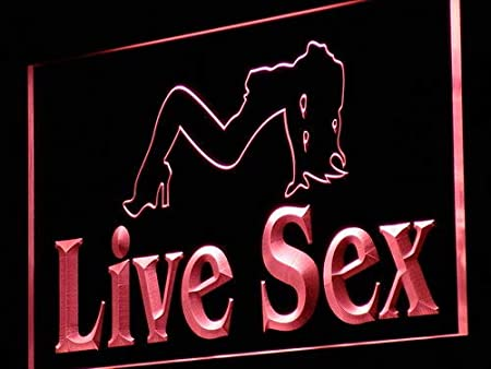 ADVPRO Cartel Luminoso j135-r Live Sex Sexy Girl Dancer XXX ...