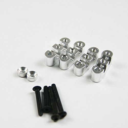XmaxRc Silver Alloy Rear Sway Bar Anti Roll Bar Mounts For HPI Rovan Baja 5B 5T KM (Hpi Roll Bar)