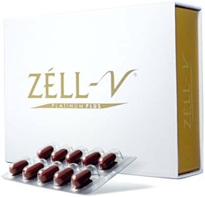 ZÉLL-V Sheep Placenta Platinum Plus - Anti-Aging Nutrient That Contains Bio-Active Placenta Proteins, Epidermal Growth Factors and Cytokines to Help Skin Defend Against Aging