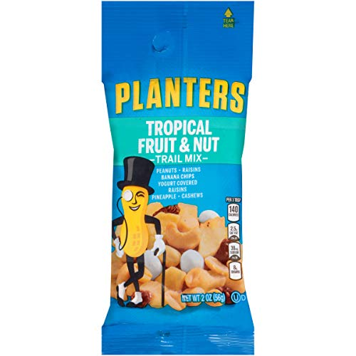 Planters Tropical Fruit & Nut Trail Mix (2 oz Bags, Pack of 72)