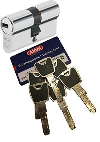 ABUS xp20s CILINDRO DOPPIO LUNGHEZZA (A/B) 40/45mm (C = 85mm) CON SCHEDA SICUREZZA E 6 Chiave con di clip, not-u. cilindro europeo e SKG protezione perforazione STF
