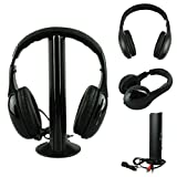Creazy® 5IN1 Wireless Headphone Casque Audio Sans Fil Ecouteur Hi-Fi Radio FM TV MP3 MP4