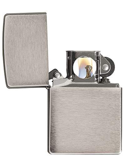 Zippo Pipe Lighter: Armor - Brushed Chrome 162PL Armor Brushed Chrome Zippo Lighter