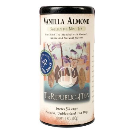 Republic Of Tea Almond Tea (The Republic of Tea, Vanilla Almond, 50-Count)