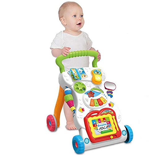 BABYSTCWJ Walker Toy, Baby Activity Walker, Multi-Function Play Tray Entertainment Kids Toys,First Step Multiple Pattern, Sit & Play, Music Piano, Activity Centre Push Along Walker