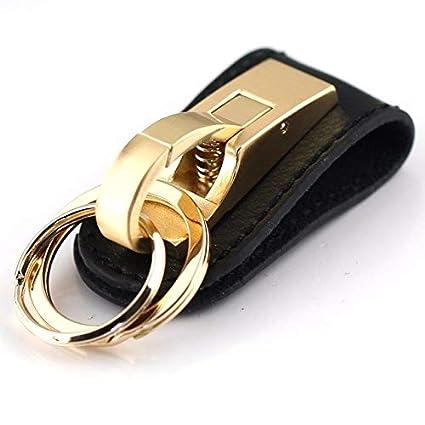 Amazon.com: Occus Genuine Leather Keychain Key Ring Through ...