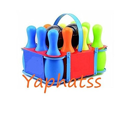 10 Pin Bowling Game - Yaphetss Indoor Children Game Bowling Set For Boy Girls Home Outdoor Casual Interaction Educational Toys For Kids Play Clear Plastic Large 10 Pins With Two Balls Bowling Pin Sets
