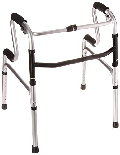 HealthSmart Toilet Safety Frame Sit-to-Stand Folding Walker, Easy To Rise, Soft Form Grips, Silver by HealthSmart