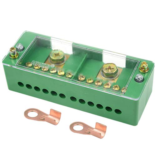 WGCD WMYCONGCONG 660V 30A Single Phase 2 Inlet 12 Outlet Meter Box Junction Power Distribution Terminal Block (2 Inlet 12 Outlet)