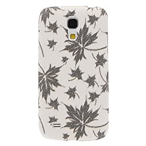 get Bling Maple Leaf Stripe Pattern Hard Case for Samsung Galaxy S4 Mini I9190 , Brown