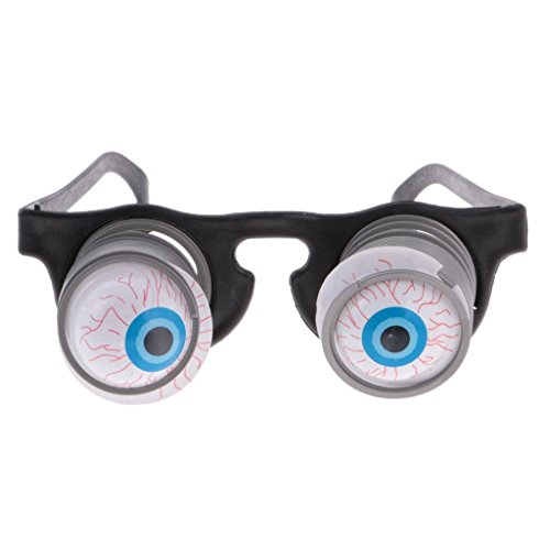 Pop Out Eyeglasses Droopy Eye Spring Glasses Halloween Costume Party Joke ()