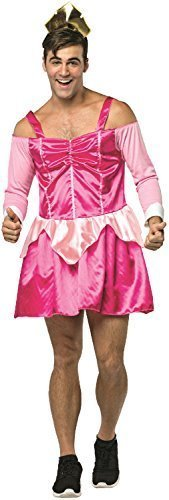 Mens Sexy Pink Princess Novelty Drag Stag Do Night Party Funny Comedy Embarrassing Fancy Dress Costume Outfit (Pink) ()
