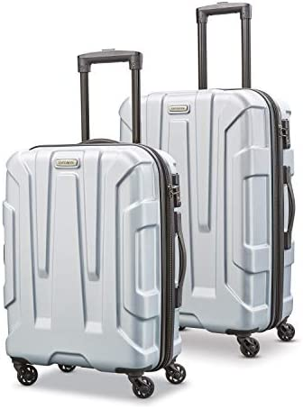 Samsonite Centric Hardside Expandable Luggage with Spinner Wheels, Silver, 2-Piece Set 20 24