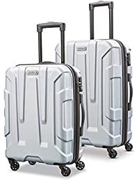 Centric Hardside Expandable Luggage with Spinner Wheels, Silver, 2-Piece Set (20/24)