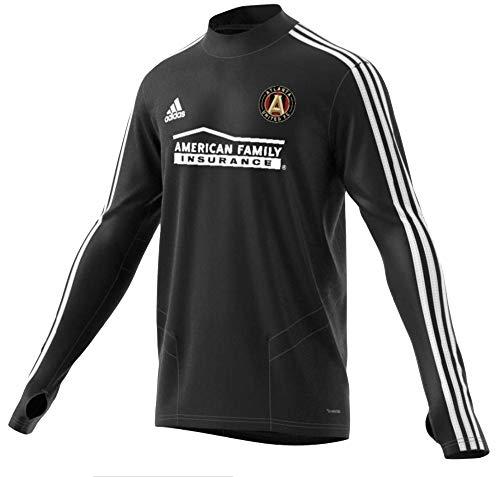 adidas Atlanta United FC Long Sleeve Training Jersey-Black/White-XL