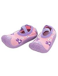 HOWELL Baby Girl Sock Shoes Anti-Slip Floor Slippers Floral Pattern Shoe Like Socks for Toddler Newborn Infant