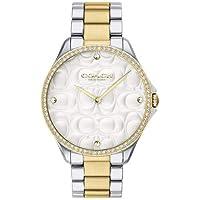 Relógio Coach Feminino Aço Prateado e Dourado - 14503069