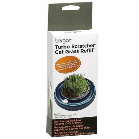 (Bergan Turbo Scratcher Star Chaser Cat Grass Refill)