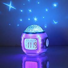 MEXUD-Room Sky Children Baby Star Night Light Projector Lamp Bedroom Alarm Music Clock