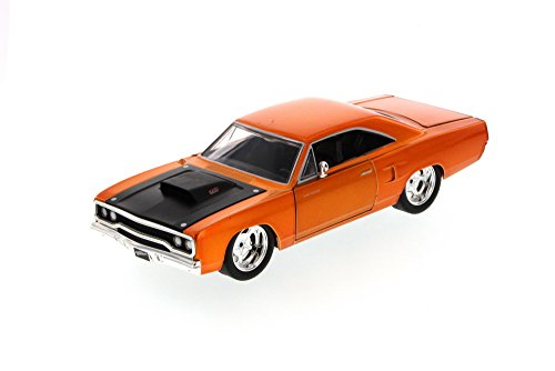 (Jada Fast & Furious Dom's Plymouth Road Runner Hard Top, Copper 97127 - 1/24 Scale Diecast Model Toy Car, but NO BOX)