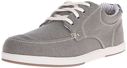 Sebago Heren Mason Lace Up Oxford Taupe Canvas / Leer