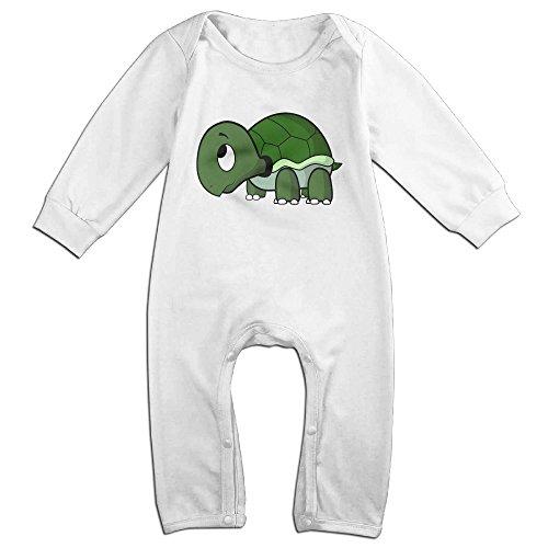 Haru Baby Tortoise NewBorn Boy's & Girl's Long Sleeve Romper Bodysuit Outfits White 12 Months (Infant Dallas Cowboys Halloween Costume)