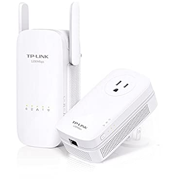 TP-Link AC1200 Wi-Fi Range Extender, AV1200 Powerline Edition, Extra Outlet (TL-WPA8630 KIT)