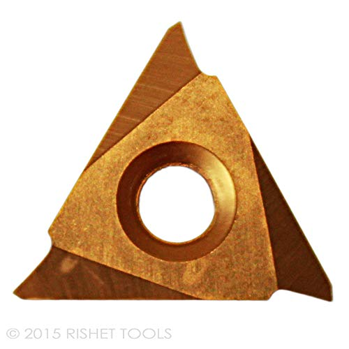 RISHET TOOLS WNMG 332 C5 Multi Layer TiN Coated Carbide Inserts 10 PCS