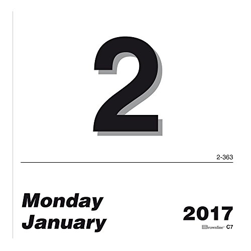 Brownline Daily Calendar Refill - Brownline 2017 Daily Wall Calendar Refill only (for C7), 6 x 6 inches (C7R-17)
