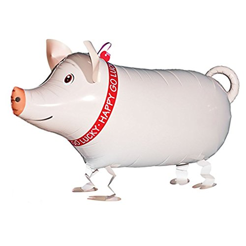 VOULOIR Walking Animal Balloons Pig Balloon Air Walkers, Kids Farm Animal Theme Birthday Party Supplies Birthday Decorations -