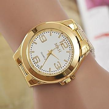 Bellos Relojes, reloj de pulsera de mujer L. WEST Fashion diamantes banda de acero