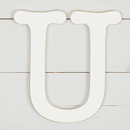 11.5'' Typewriter Wall Decor Letter ''U''- White