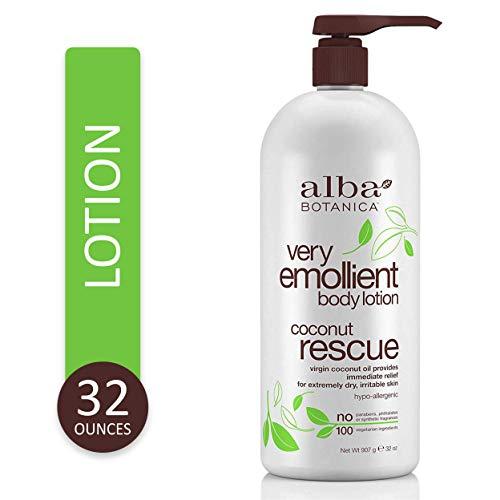 Alba Botanica Very Emollient Coconut Rescue Body Lotion 32 oz