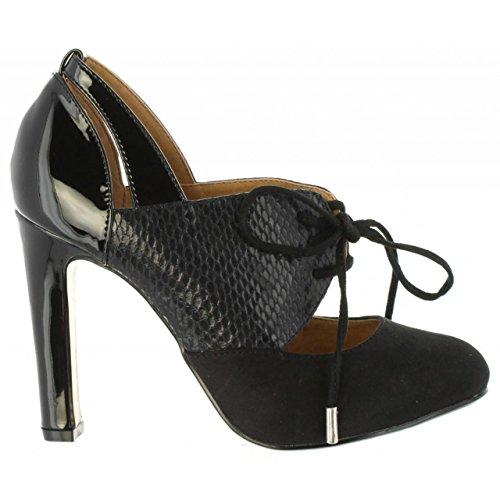 7e60b6e7 Buena MARIA MARE Zapatos de Tacón de Mujer 61994 C36112 Soft Negro ...