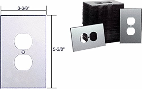(CRL Clear Single Duplex Plug Acrylic Mirror Plates in Bulk Pack of 50 by CR Laurence)